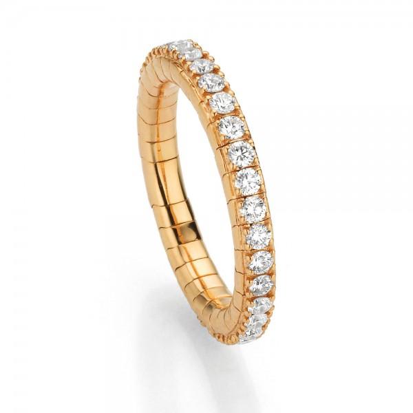 Crivelli Ring Rosegold, m. Brillanten 1,00ct fsi