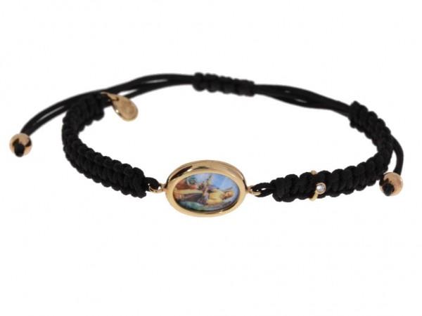 Crivelli Schutzengel Armband Rosegold, m. Brillant 0,01ct