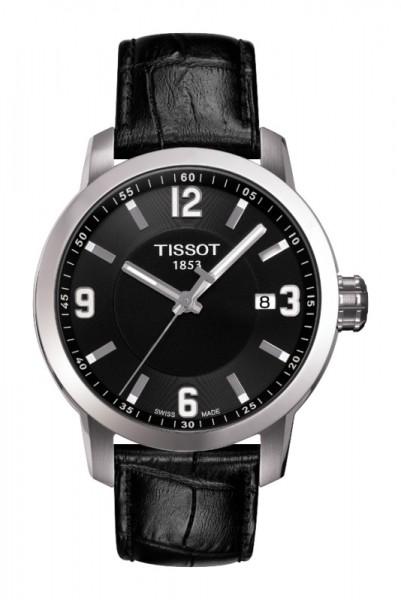 Tissot PRC 200 Quarz Herren Leder schwarz