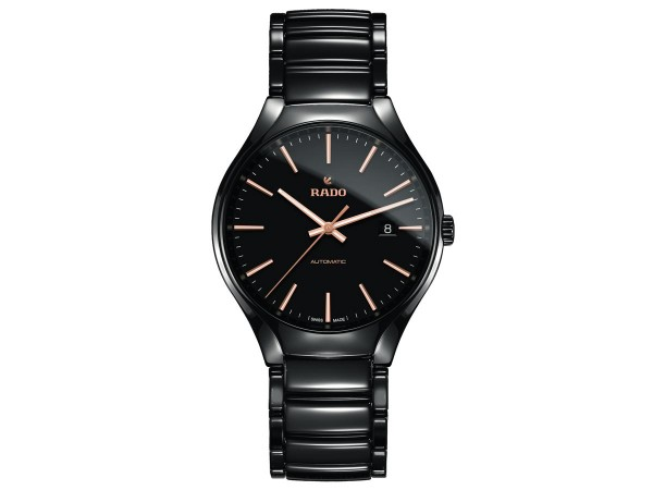Rado True L schwarz Aut. Index rose