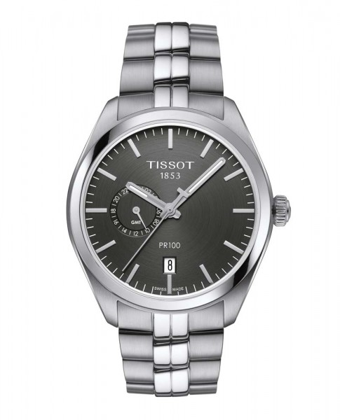 Tissot PR 100 Dual Time Titan Quarz anthrazit
