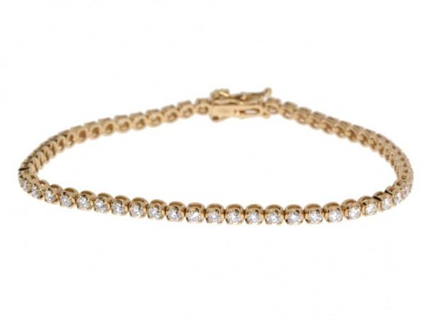 Crivelli Tennisarmband Rosegold, m. Brillanten 2,00ct