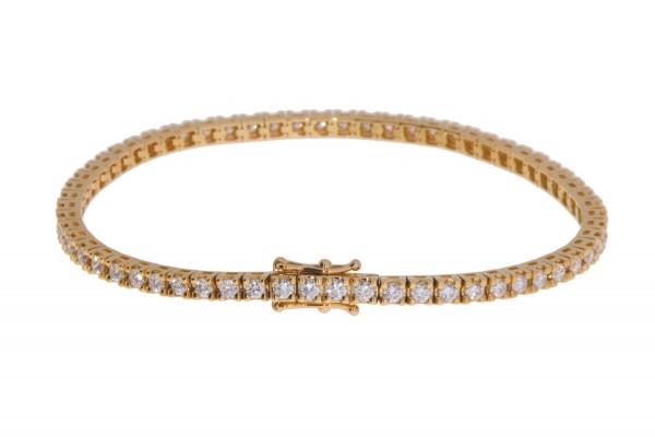 Crivelli Tennisarmband Rosegold, m. Brillanten 2,50ct f/si