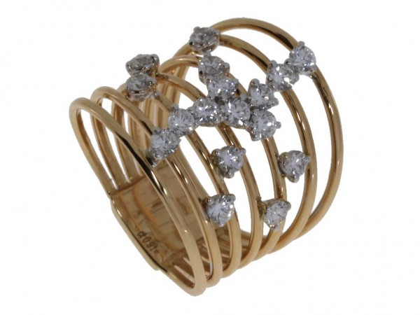 Crivelli Ring Rosegold, m. Brillanten 0,91ct