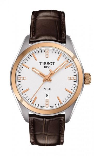 Tissot PR 100 Quarz Lady bicolor rose/silb