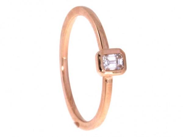 Dettinger Ring Rosegold, m. Diamant 0,15ct