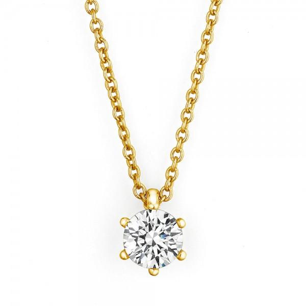 Meiller Diamonds Paris Kette mit Solitäranhänger Gelbgold, m. Brillant 0,40ct G/si2