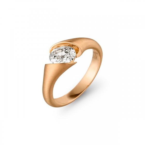 Schaffrath Calla Ring Rosegold, m. Diamant 0,46ct