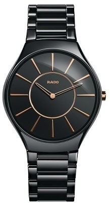 Rado True Thinline schwarz/rose