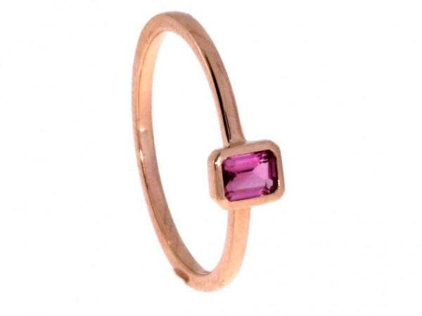 Dettinger Ring Rosegold, m. Turmalin