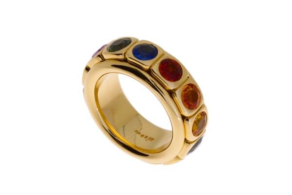 Odenwald Tango Ring Gelbgold m. Saphiren