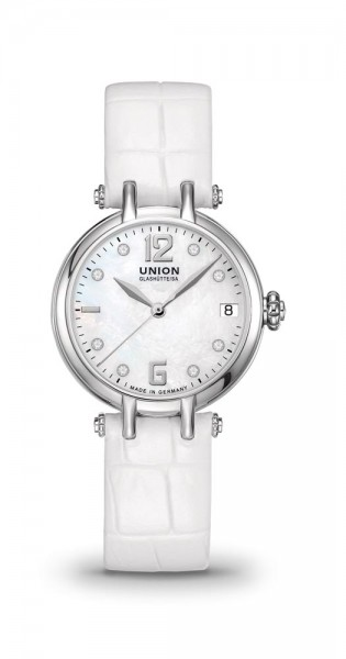 Union Glashütte Sirona Datum Weiß Diamanten