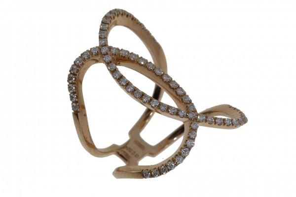 Crivelli Ring Rosegold,m. Brillanten 0,50ct