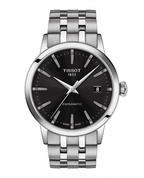 Tissot Classic Dream Swissmatic Stahl, schwarz