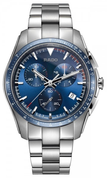 Rado Hyperchrome weiß/blau Metallband