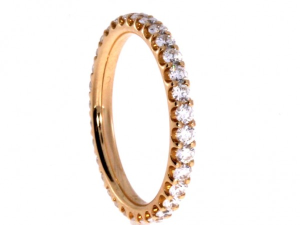 Dettinger Memoirering Rosegold, m. Brillanten 1,00ct