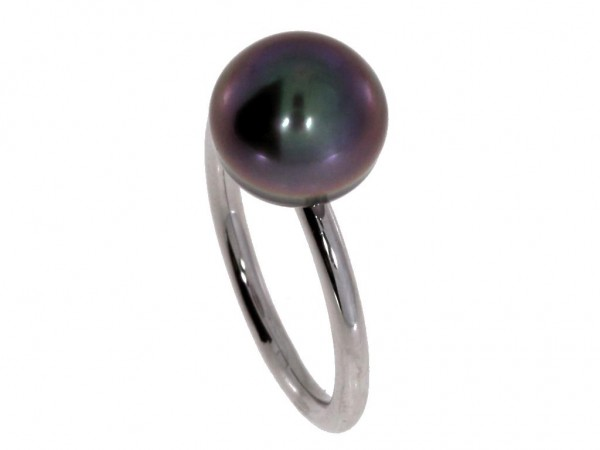 Gellner Urban Wired XL Ring Silber, m. Tahitiperle