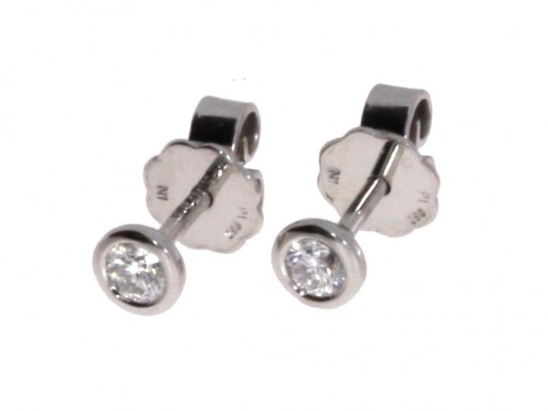 Dettinger Ohrstecker Platin, m. Brillanten 0,20ct