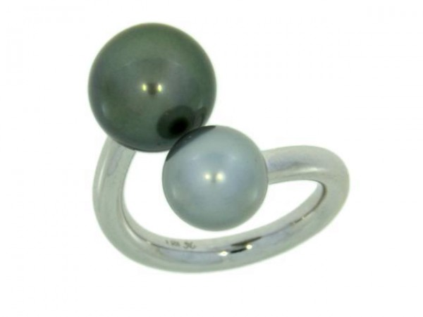 Pearl Style Wired XL Ring Perlen Silber