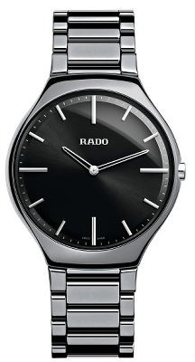 Rado True Thinline L platinfarben