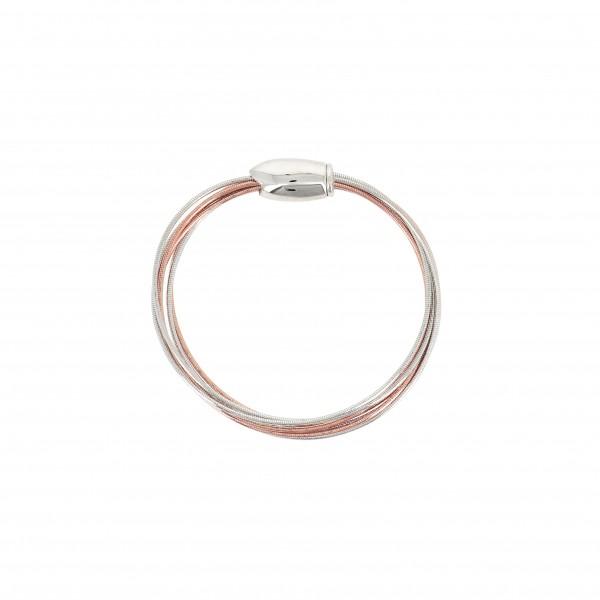 Pesavento DNA Armband Silber, m. Shiny rosé