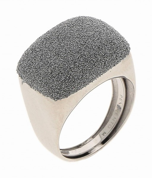 Pesavento Ring Weißgold, m. Diamantstaub grau