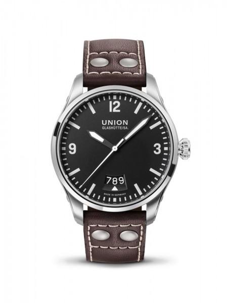 Union Glashütte Belisar Pilot Datum Schwarz