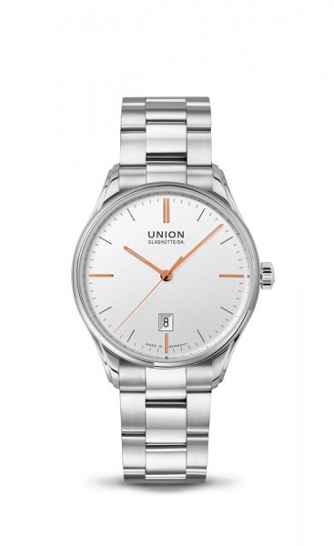 Union Glashütte Viro Datum 41mm Silber Metallband