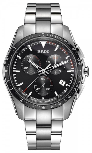 Rado Hyperchrome weiß/schwarz Metallband