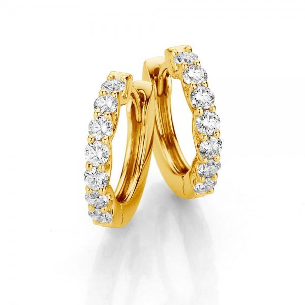 Meiller Diamonds Creolen Gelbgold, m. Brillanten 0,53ct