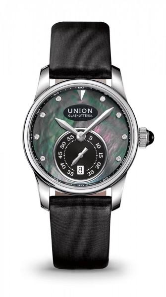 Union Glashütte Seris Kleine Sekunde Schwarz Lederarmband