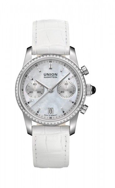 Union Glashütte Seris Chronograph Diamaten Lünette