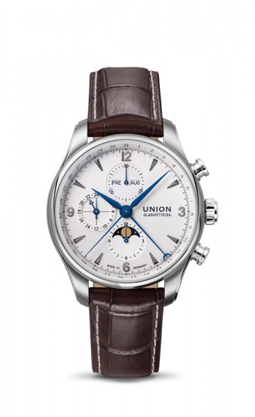 Union Glashütte Belisar Chronograph Mondphase Weiß/Blau