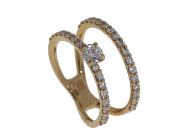 Crivelli Ring Rosegold, m. Brillanten 0,90ct