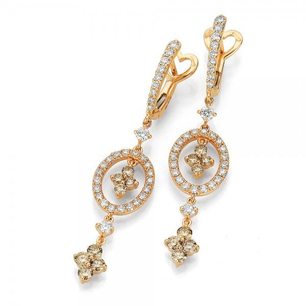 Crivelli Creolen Rosegold, m. Diamanten