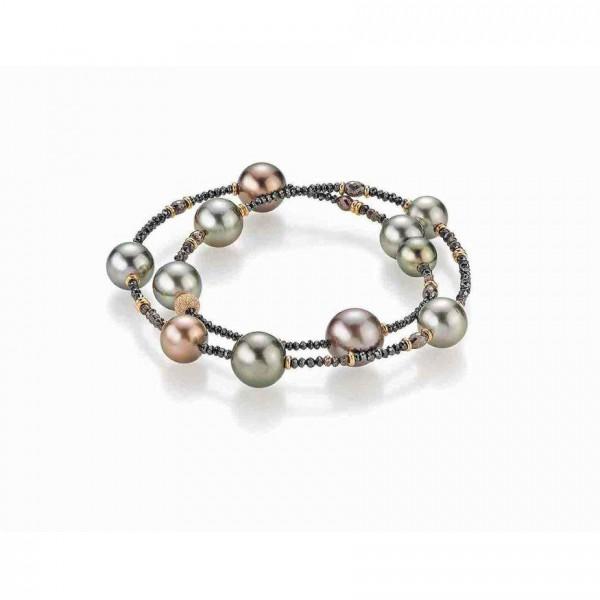 Gellner Castaway Armband Rosegold, m. Diamanten, Tahitiperlen