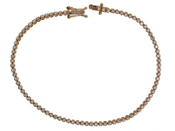 Crivelli Tennisarmband Rosegold, m. Brillanten 0,75ct
