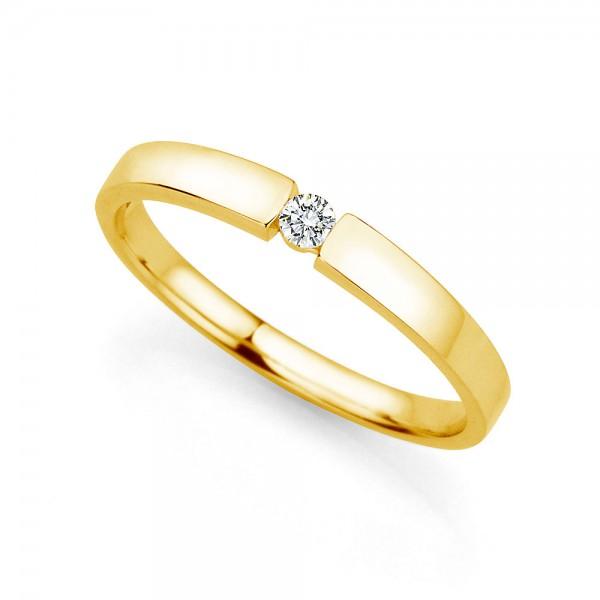 Meiller Love Prag Spannring Gelbgold, m. Brillant 0,06ct