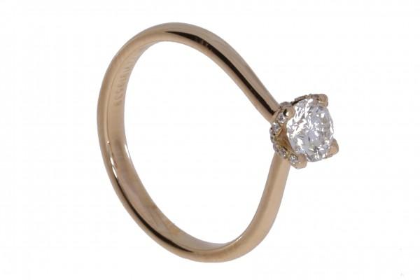 Rivoir Ring Rosegold, m. Brillanten 0,63ct