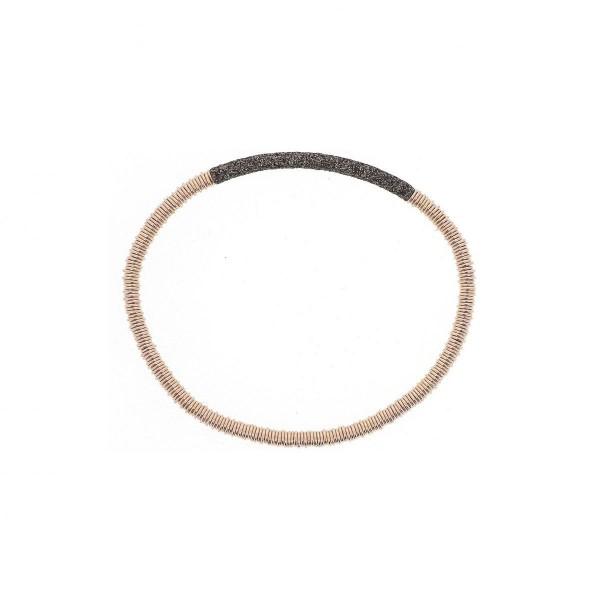 Pesavento Polvere Armband Silber rosé, m. Polvere marrone