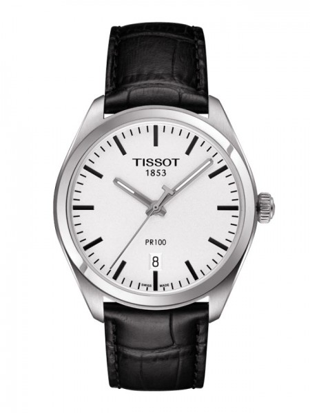 Tissot PR 100 Quarz Lederband schwarz