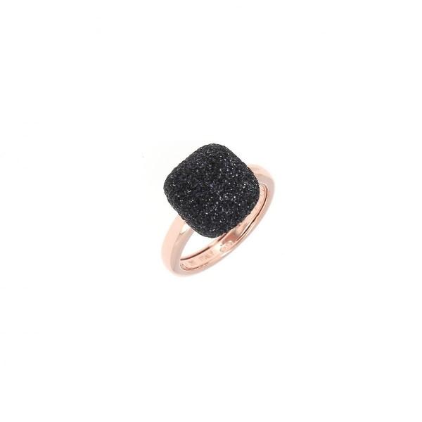 Pesavento Polvere di Sogni Ring Silber rosé, m. Polvere schwarz