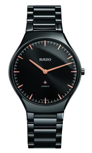 Rado True Thinline Aut. schwarz/rose