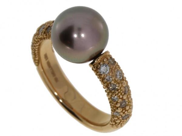 Gellner Zensation Ring Tahit-Perle, Roségold & Brillanten