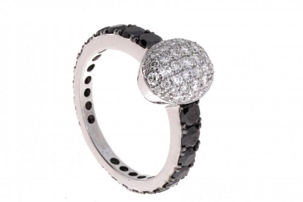 Crivelli Ring Weißgold, m. Diamanten
