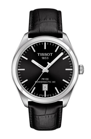 Tissot PR 100 Automatik Lederband schwarz
