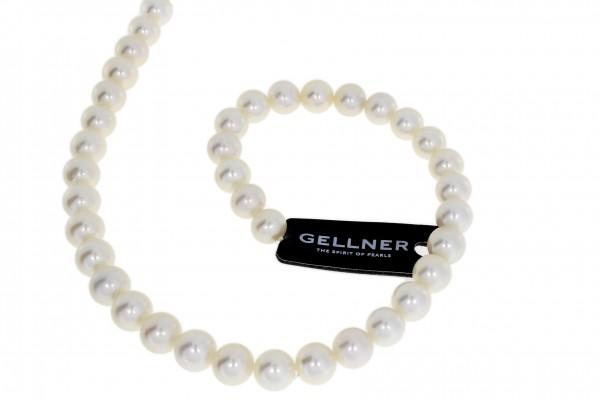 Gellner Perlenkette Süßwasser m. Stifte