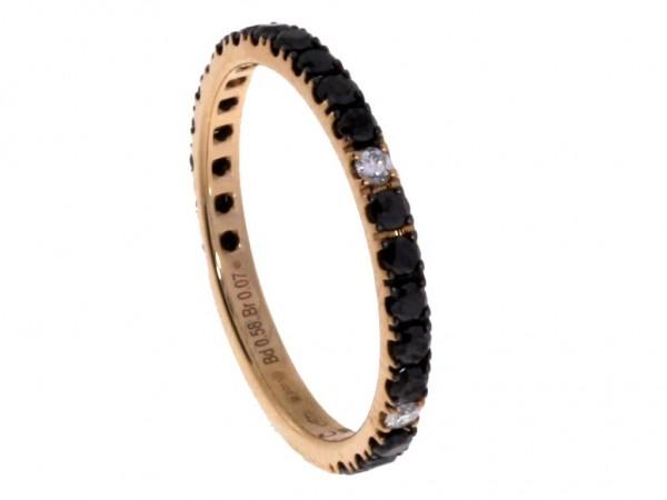 Crivelli Ring Rosegold, m. Diamanten