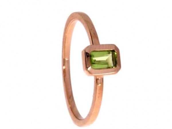 Dettinger Ring Rosegold, m. Peridot
