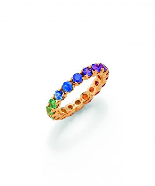 Odenwald Rainbow Memoirering Rotgold, m. Saphiren 3,15ct